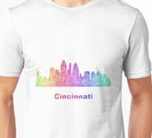 Rainbow Cincinnati skyline Unisex T-Shirt