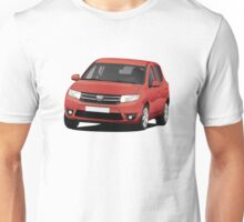Dacia Sandero - illustration - red Unisex T-Shirt