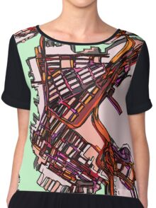 Abstract Map of East Boston Chiffon Top