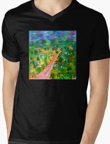 River Valley, by Roger Pickar, Goofy America Mens V-Neck T-Shirt