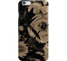 Sepia Cartoon Flowers iPhone Case/Skin
