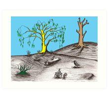 Golden tree succession Art Print