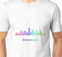 Rainbow Cleveland skyline Unisex T-Shirt