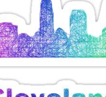 Rainbow Cleveland skyline Sticker