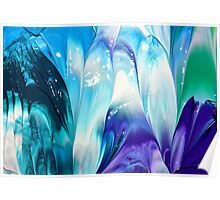 Bright Crystal Ice Poster