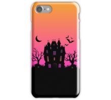 Haunted Silhouette Rainbow Mansion iPhone Case/Skin