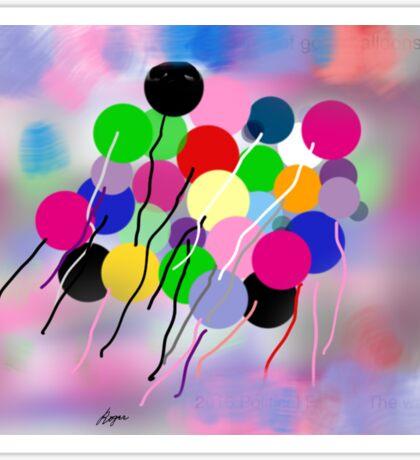 Balloons, by Roger Pickar, Goofy America Sticker