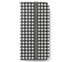 Black Gingham - small iPhone Wallet/Case/Skin