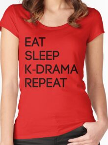 Korean Drama Cycle Women's Fitted Scoop T-Shirt