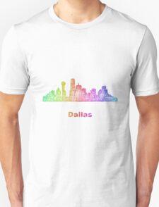 Rainbow Dallas skyline Unisex T-Shirt