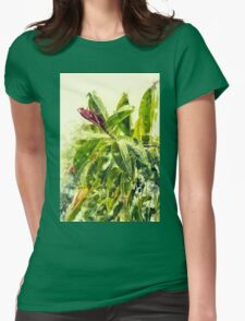 Rubber tree AKA Rubber fig (Ficus elastica) Digitally Manipulated Womens Fitted T-Shirt