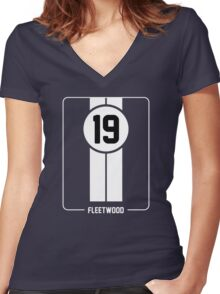 Cunningham Stripes Women's Fitted V-Neck T-Shirt