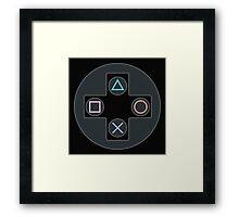 Controller - PlayStation Framed Print