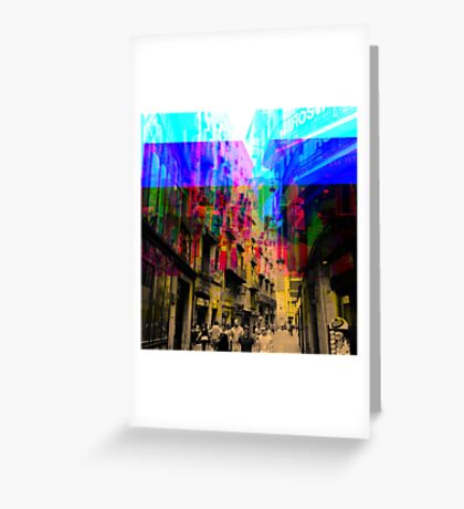 By a simple procedural technique amplified result. Greeting Card