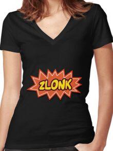 ZLONK Women's Fitted V-Neck T-Shirt