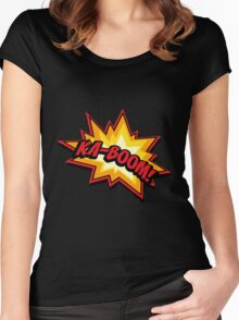 KA-BOOM Women's Fitted Scoop T-Shirt