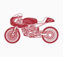 Retro Cafe Racer Bike - Red by superleggera
