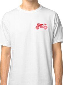 Retro Cafe Racer Bike - Red Classic T-Shirt