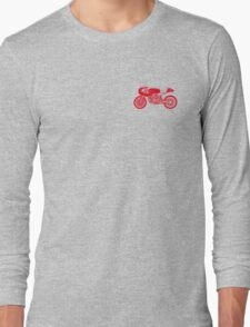 Retro Cafe Racer Bike - Red Long Sleeve T-Shirt