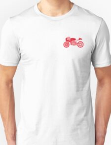 Retro Cafe Racer Bike - Red T-Shirt