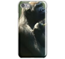 Western Lowland Gorilla  iPhone Case/Skin