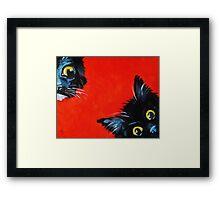 Sneaky Kittens Framed Print