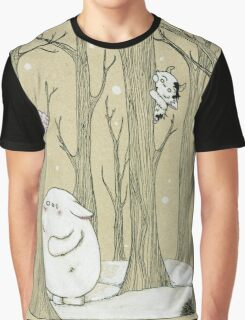 Snowy Hide and seek Graphic T-Shirt