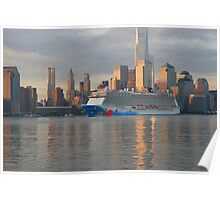 The Cruise Ship Norwegian Breakaway Poster
