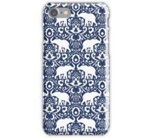 Elephant Damask Indigo iPhone Case/Skin