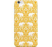Elephant Damask Tangerine iPhone Case/Skin