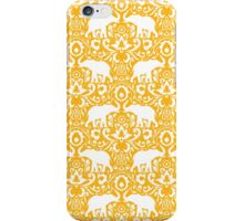 Elephant Damask Tangerine iPhone Case/Skin