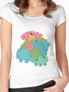 Bulbasaur Evolution Women's Fitted Scoop T-Shirt