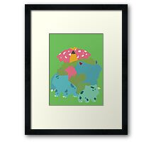 Bulbasaur Evolution Framed Print