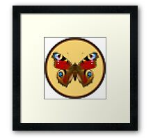 Admiral Butterfly - Cross Stitch style Framed Print