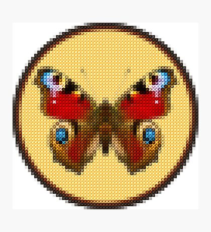 Admiral Butterfly - Cross Stitch style Photographic Print