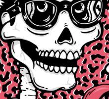 Buddy Holly Skull Sticker