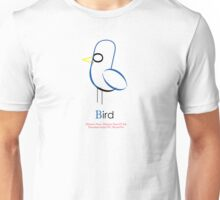 Bird Typograhy Unisex T-Shirt