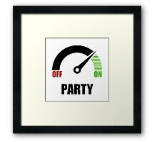 Party On Framed Print