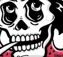 Johnny Cash Skull Sticker