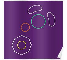 Gamecube Controller Button Symbol Outline Poster