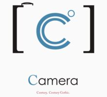 camera Typography Kids Tee