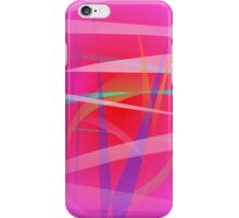 Shocking Pink Abstract Art iPhone Case/Skin
