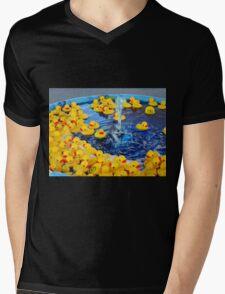 Little Duckies Mens V-Neck T-Shirt
