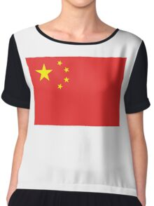CHINA, CHINESE FLAG, Flag of China, People's Republic of China, Pure & Simple Chiffon Top