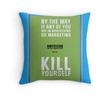 Bill Hicks - By The Way Throw Pillow