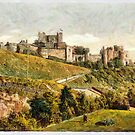 A digital painting of  The Castle, Dover, England by Dennis Melling