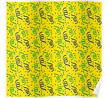 Brazil/ Brasil Summer Olympics 2016 Blue, Green and Yellow Party Streamers Poster
