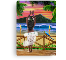 HAWAIIAN SUNSET HULA Canvas Print
