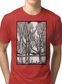 Farm Trees, An Ink Drawing Tri-blend T-Shirt