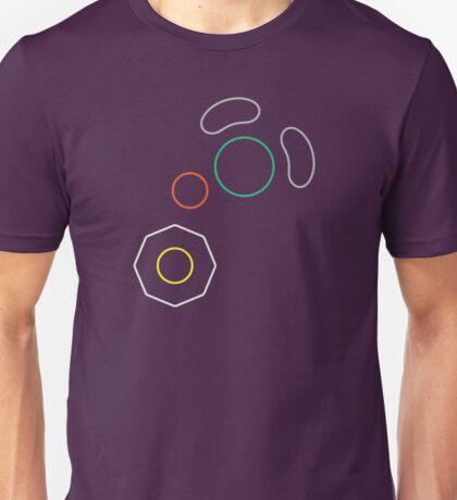 Gamecube Controller Button Symbol Outline Unisex T-Shirt